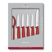 Набор ножей Victorinox Swiss Classic Kitchen (6.7111.6G) 6шт красный