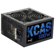 Блок питания Aerocool KCAS-500W Plus 80+ bronze ATX 500W (24+4+4pin) APFC 120mm fan 7xSata RTL